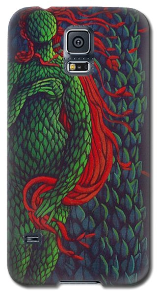 Galaxy S5 Case featuring the painting Topiary Venus Scene by Donna Huntriss