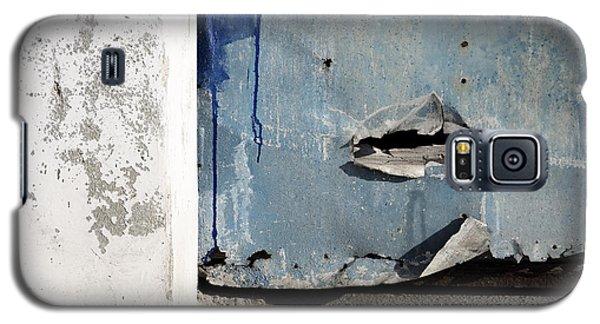 Galaxy S5 Case featuring the photograph Torn Metal Shutter by Agnieszka Kubica