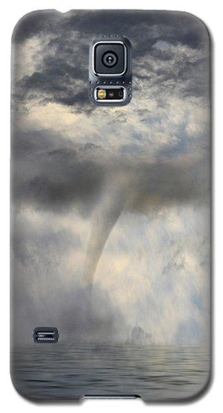 Tornado At The Sea Galaxy S5 Case by Angel Jesus De la Fuente