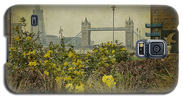 Galaxy S5 Case featuring the photograph Tower Bridge In Springtime. by Clare Bambers