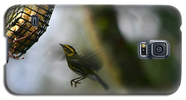 Galaxy S5 Case featuring the photograph Townsend Warbler In Flight by Kym Backland