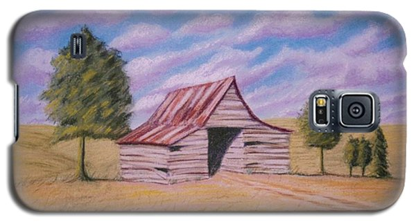 Galaxy S5 Case featuring the pastel Tractor Shed by Stacy C Bottoms
