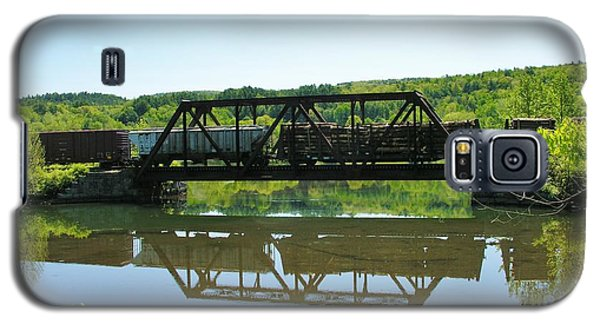 Galaxy S5 Case featuring the photograph Train And Trestle by Sherman Perry