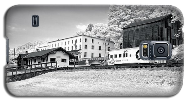 Galaxy S5 Case featuring the photograph Train Depot by Mary Almond