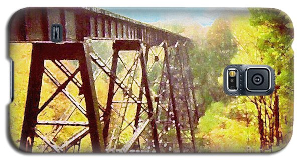 Galaxy S5 Case featuring the digital art Train Trestle by Phil Perkins