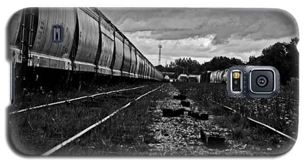 Galaxy S5 Case featuring the photograph Train Yard by Randall  Cogle