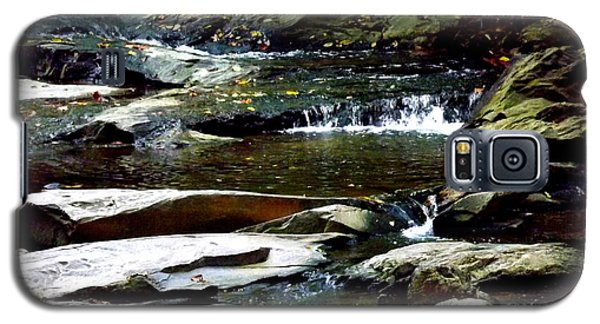 Galaxy S5 Case featuring the photograph Tranquil River In Asheville Nc by Jodi Terracina