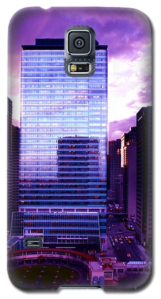 Galaxy S5 Case featuring the photograph Transalta Building Purple by JM Photography