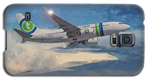 Galaxy S5 Case featuring the painting Transavia Boeing 737 No2 by Nop Briex