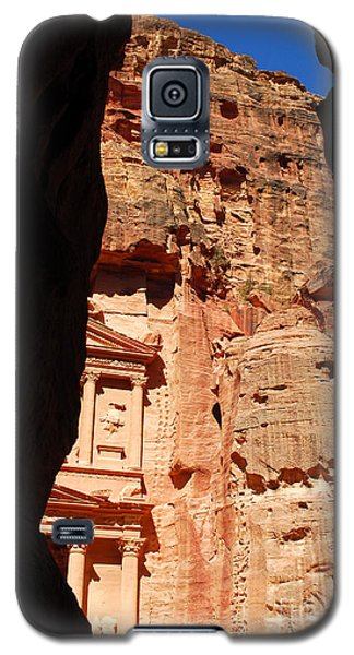 Galaxy S5 Case featuring the photograph Treasury At Petra In Jordan by Eva Kaufman