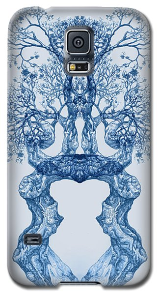 Tree 14 Blue 2 Galaxy S5 Case