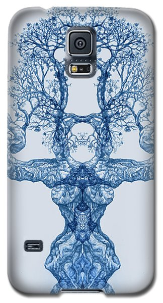 Tree 14 Blue 4 Galaxy S5 Case