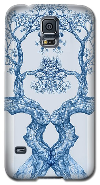 Tree 14 Blue 6 Galaxy S5 Case
