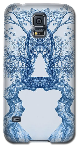 Tree 14 Blue 8 Galaxy S5 Case
