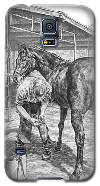 Trim And Fit - Farrier With Horse Art Print Galaxy S5 Case