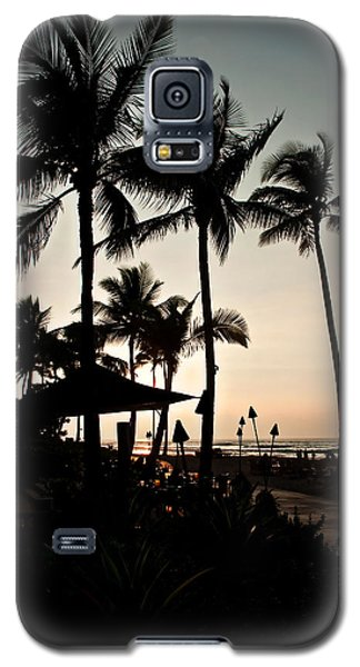 Galaxy S5 Case featuring the photograph Tropical Island Silhouette Beach Sunset by Valerie Garner
