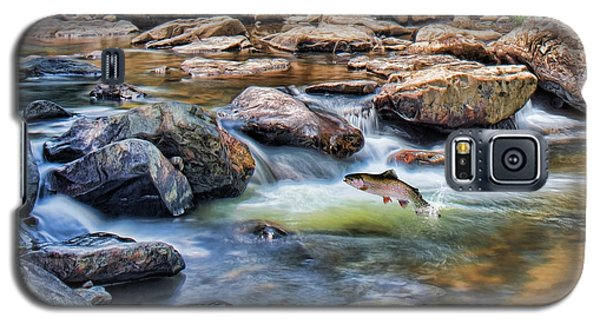 Galaxy S5 Case featuring the digital art Trout Stream by Mary Almond