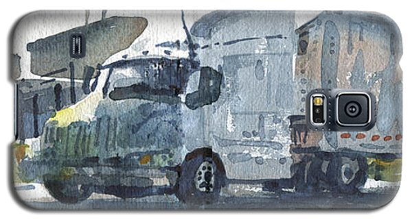 Galaxy S5 Case featuring the painting Truck Panorama by Donald Maier