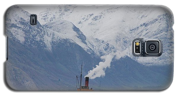 Tss Earnslaw Steamboat Against The Southern Alps Galaxy S5 Case by Laurel Talabere