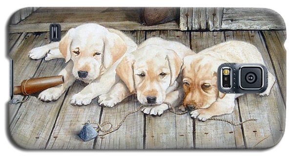 Tuckered Out Trio  Sold  Prints Available Galaxy S5 Case