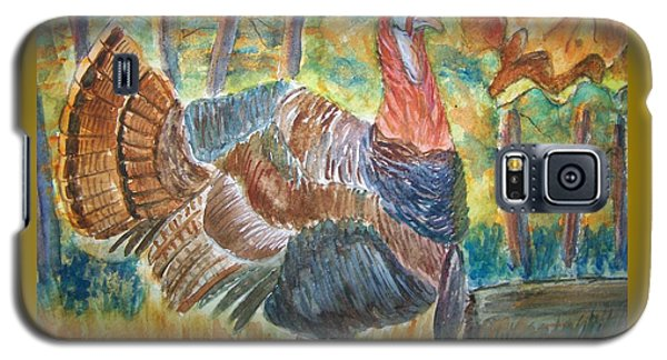 Galaxy S5 Case featuring the painting Turkey In Fall by Belinda Lawson