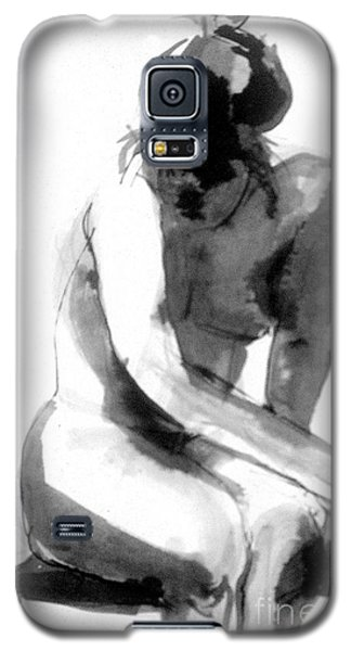 Galaxy S5 Case featuring the drawing Turn Back by Gabrielle Wilson-Sealy