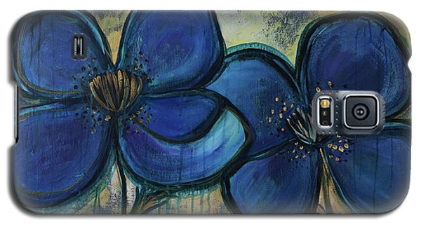 Two Blue Poppies Galaxy S5 Case