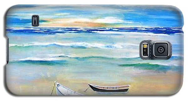 Two Boats Ashore  Galaxy S5 Case by Gary Smith