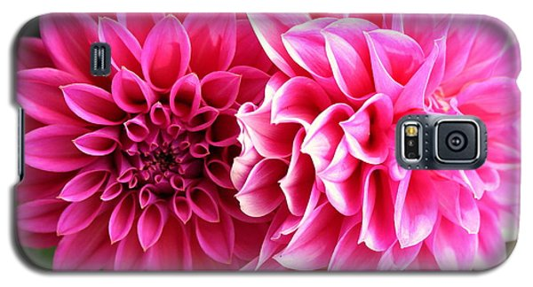 Galaxy S5 Case featuring the photograph Two Dahlias In Shades Of Pink by Laurel Talabere