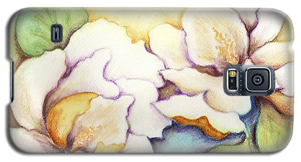 Galaxy S5 Case featuring the painting Two Magnolia Blossoms by Carla Parris