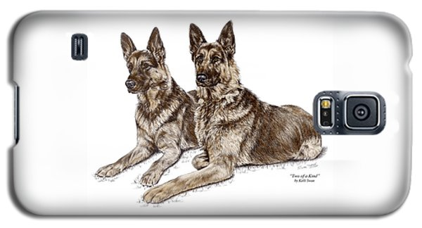 Two Of A Kind - German Shepherd Dogs Print Color Tinted Galaxy S5 Case