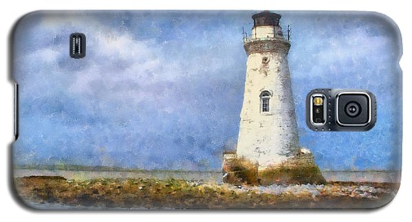 Galaxy S5 Case featuring the painting Tybee Island Lighthouse by Lynne Jenkins