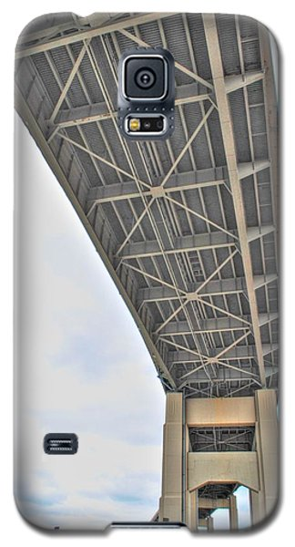 Galaxy S5 Case featuring the photograph Under The Skyway by Michael Frank Jr