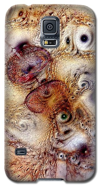 Galaxy S5 Case featuring the digital art Unphased And Confused by Casey Kotas