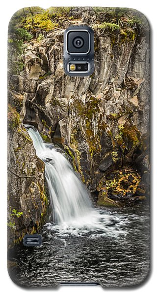 Galaxy S5 Case featuring the photograph Upper Falls Mccloud River by Randy Wood