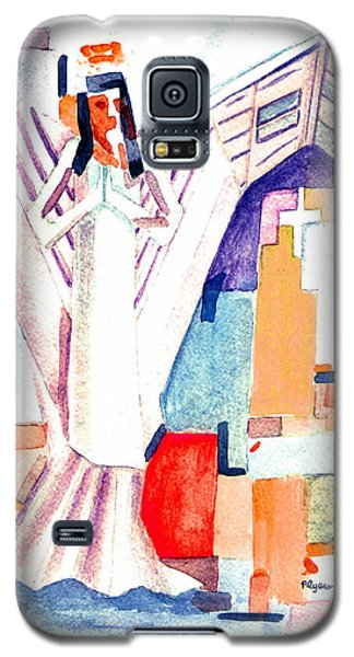 Galaxy S5 Case featuring the painting Urban Angel Of Light by Paula Ayers