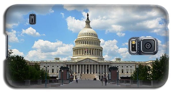 Galaxy S5 Case featuring the photograph Us Capitol by Pravine Chester