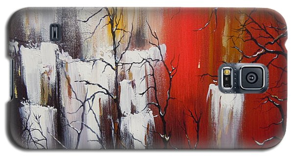 Galaxy S5 Case featuring the painting Valley Of Shadows by Dan Whittemore