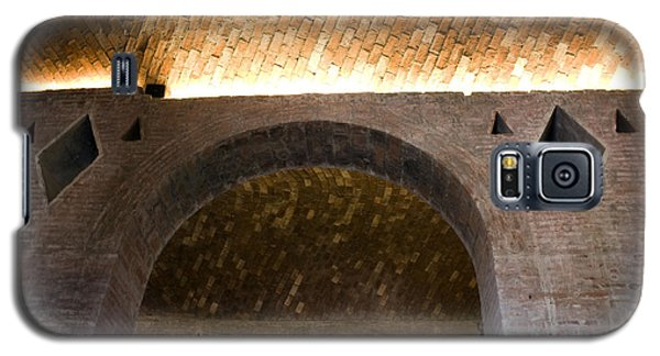 Galaxy S5 Case featuring the photograph Vaulted Brick Arches by Lynn Palmer