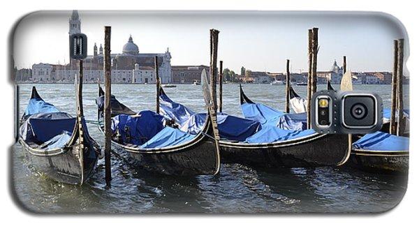 Galaxy S5 Case featuring the photograph Venice Gondolas by Rebecca Margraf