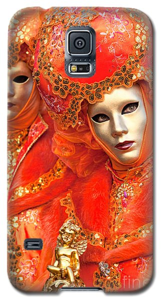Galaxy S5 Case featuring the photograph Venice Masks by Luciano Mortula