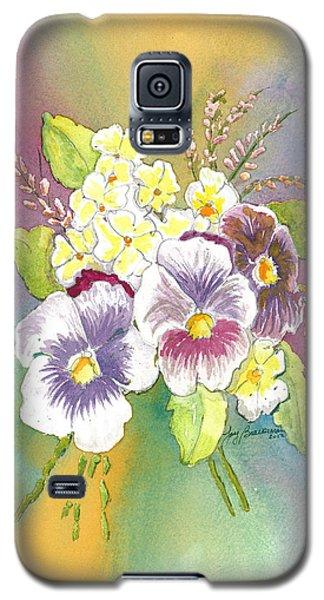 Vibrant Panseys Galaxy S5 Case