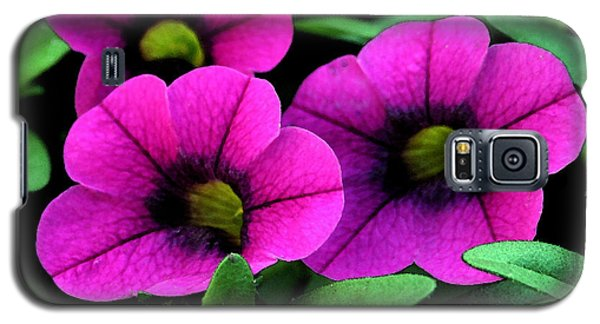 Galaxy S5 Case featuring the painting Vibrant Pink by Karen Harrison