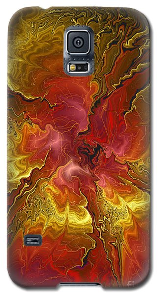 Vibrant Red And Gold Galaxy S5 Case
