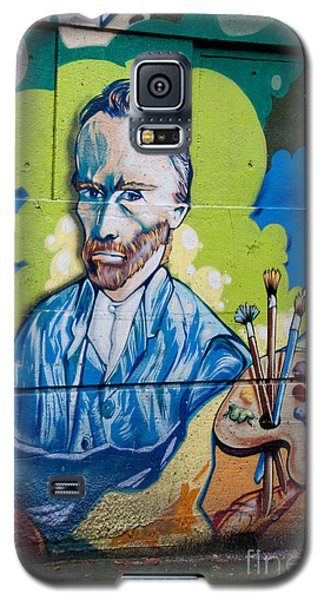 Galaxy S5 Case featuring the digital art Vincent On The Wall by Carol Ailles