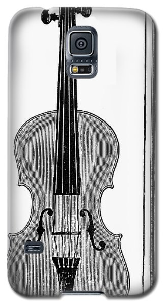 Violin Galaxy S5 Case - Violin And Bow by Granger