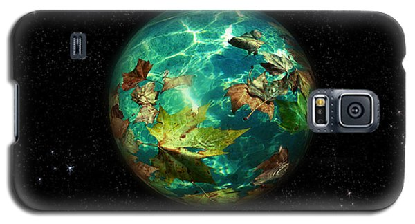 Galaxy S5 Case featuring the digital art Viriditas World by Rosa Cobos