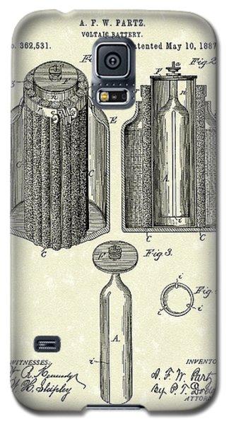 Voltaic Battery 1887 Patent Art Galaxy S5 Case