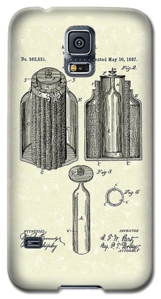 Voltaic Battery 1887 Patent Art Galaxy S5 Case