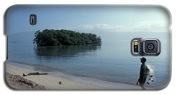 Galaxy S5 Case featuring the photograph Walking The Beach At Dawn Barahona Dominican Republic by John  Mitchell